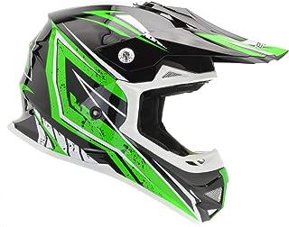 Vega Helmets Unisex-Child Kids Youth Dirt Bike, Motocross Full Face Helmet for Off-Road ATV MX Enduro Quad Sport (Green Tactic Graphic, MEDIUM)
