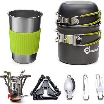 Camping Casserole 800 ml Acier Inoxydable Tasse Pot ustensiles de cuisine Trekking Bushcraft