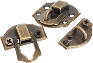 2 Piece Box Locked Latches with Screws Metal Antique Wood Box Buckles #1