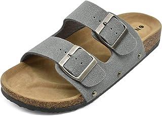 ONCAI Chaussure Daim Sandale Mule Femme Plateforme Pantoufles en liège