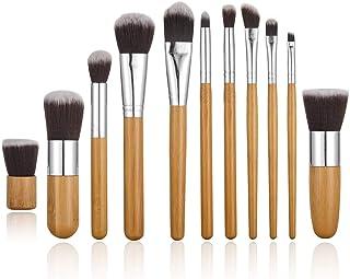 STELLAIRE CHERN 11 Pieces Professional Makeup Brush Set Foundation Blending Blush Concealer Eye Face Liquid Powder Cream C...