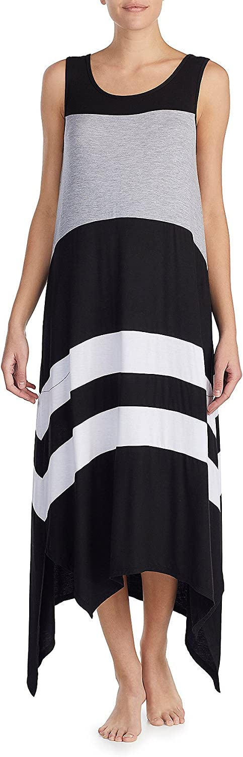 DKNY colorblocked Design Long Chemise Dress