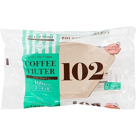 ストリックスデザイン コーヒー フィルター 102 100枚 ブラウン 2~4杯用 日本製 開きやすい ペーパーフィルター パルプ100% SD-903