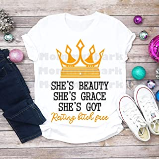 87aa2fc4e1853 She s Beauty She s Grace She s Got Resting Bitch Face Unisex T-shirt -  Premium T