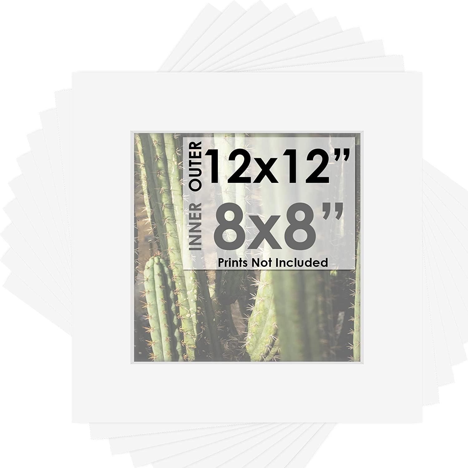 Mat Board Center Pack of 10 12x12 for White A - Mats Memphis Mall 8x8 Color Brand Cheap Sale Venue