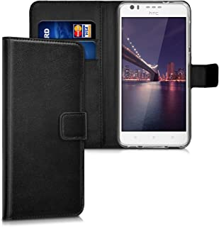 kwmobile Wallet Case for HTC Desire 10 Lifestyle - Protective PU Leather Flip Cover with Magnetic Closure, Card Slots and Kickstand Black 39773.01