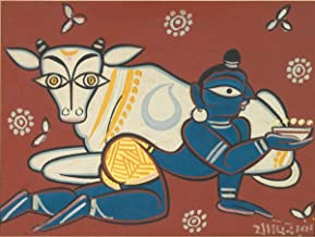 Berkin Arts Jamini Roy Giclee Art Paper Print Art Works Paintings Poster Reproduction(Krishna) #XZZ