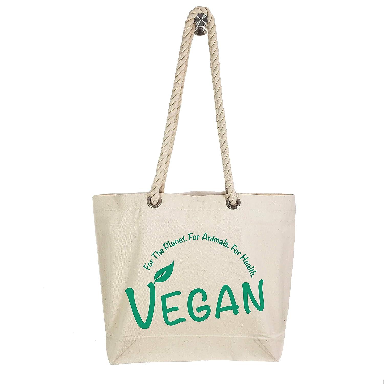 Great interest Custom Vegan Rope Handle Tote Durable Sturdy discount Bag - Shoulder
