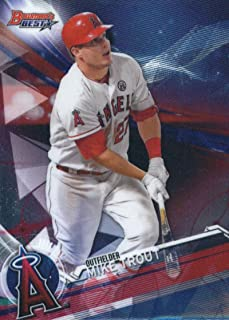 2017 Bowman's Best #25 Mike Trout Los Angeles Angels Baseball Card
