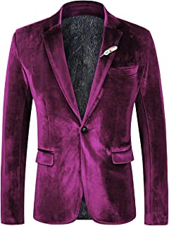 Best mens purple velvet blazer Reviews