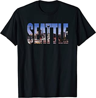 Seattle Washington Skyline Gift Keepsake Souvenir Vacation T-Shirt