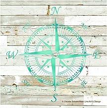 Thirstystone Coaster Set of Compass on Wood