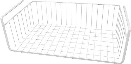 Southern Homewares White Wire Under Shelf Storage Organization Basket 17-Inch