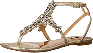 Best badgley mischka cara embellished flat evening sandals Reviews
