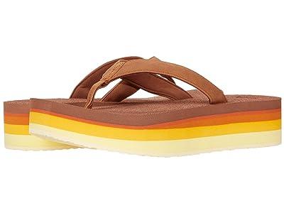 Sanuk Yoga Mat Stacker Flatform (Gold Rainbow) Women