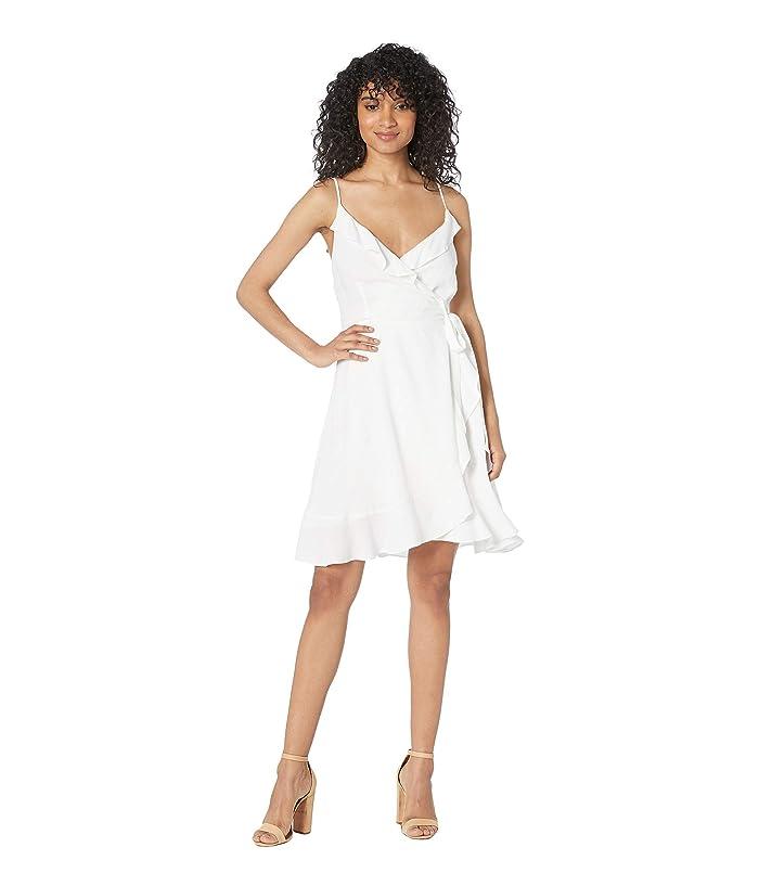 Cupcakes and Cashmere Catana Ruffle Wrap Dress (White) Women