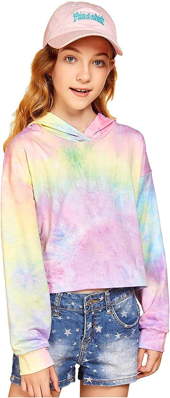 shipfree DOAEGNG Tie-Dye Crop Tops Hoodies for Long Girls Ranking TOP7 Teen Sleev Kids