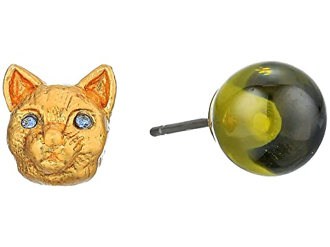 Kate Spade New York House Cat and Stone Studs Earrings