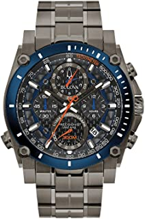 Bulova Men's Quartz Sport Watch with Stainless Steel Strap, Grey, 24 (Model: 98B343)