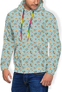 GULTMEE Men's Hoodies Sweatershirt, Vintage Pattern of Repetitive Abstract Moths,5 Size