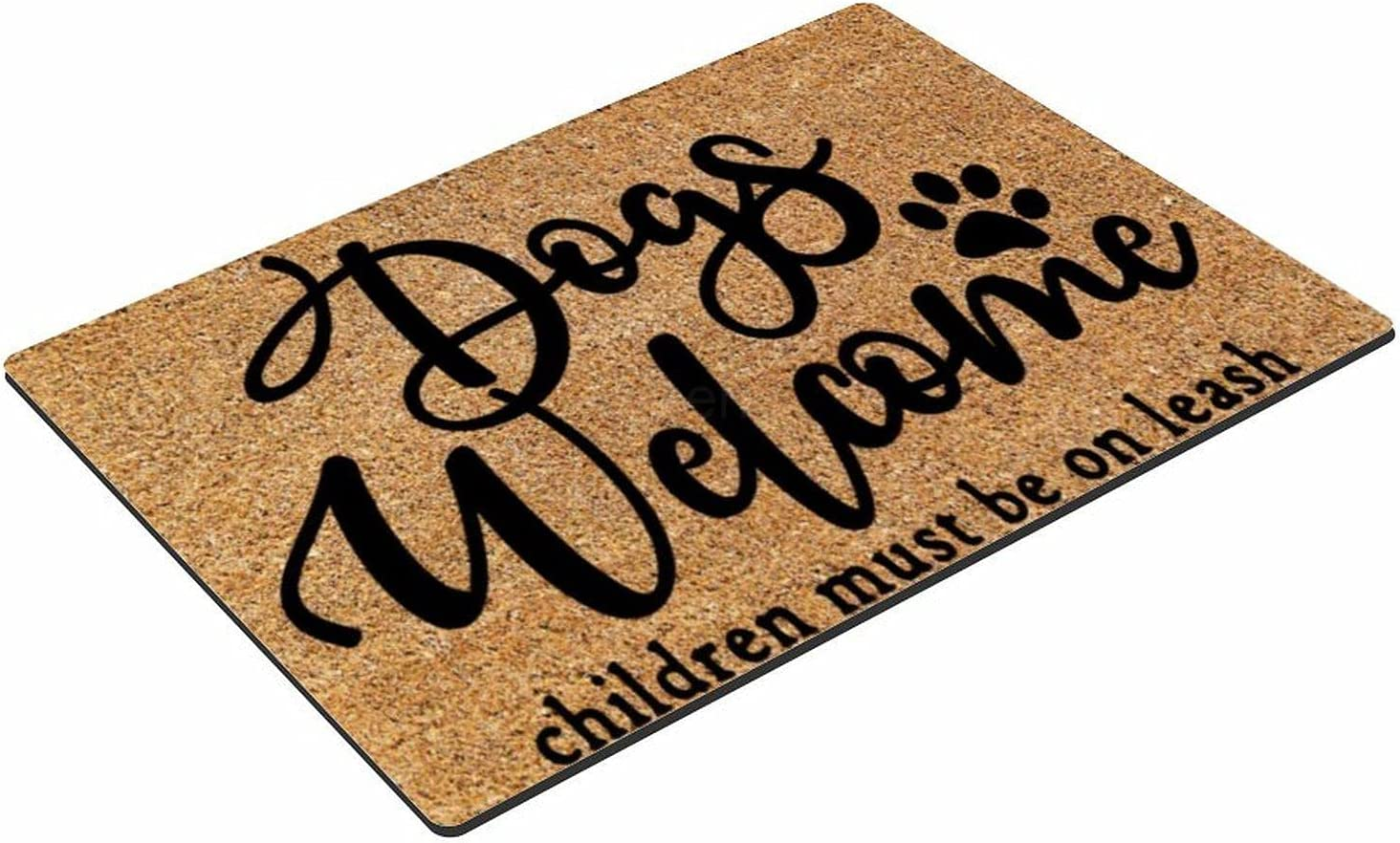 Rectangle Natural Coconut Coir Brown New arrival Mat Welcome Dogs Chi Ranking TOP11 Funny