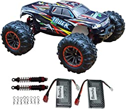 Blomiky Over Size 1/10 Scale High Speed 30MPH IPX4 Waterproof Remote Control Monster Car Truck Bonus Battery 9125 Black Red