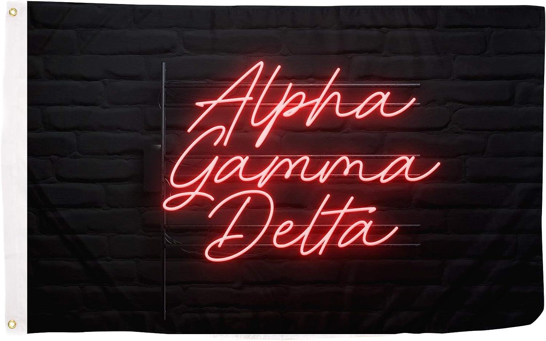 Alpha Gamma Delta Sorority Flag Banner Sign feet trend rank 3 Deco 5 Oakland Mall x