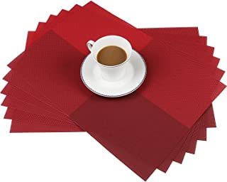 HelpCuisine Set de Table/Napperon, Placemat PVC, Lot de napperons Elegants pour la Table Salle à Manger de qualité supérie...