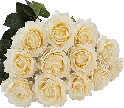 New Artificial Fake Silk Flower Blushing Bride 14x12x63cm Cream