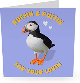 """Central 23 - Cute Anniversary Card - """"Huffin And Puffin"""" - Funny Anniversary Card - For Boyfriend Girlfriend Couple - Come..."""