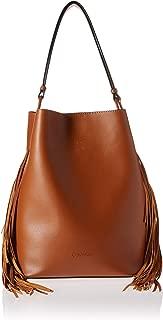 Calvin Klein Gemmy Calf PU Fringe Slouchy Novelty Bucket Shoulder Bag
