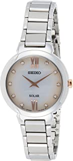 Seiko Women's Solar Quarts Watch, Silver, SUP381P1