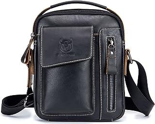 Męska skórzana torebka torba na ramię iPAD biznesowy plecak kurierski crossbody na co dzień torba podróżna z górnym uchwyt...