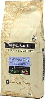 JASPER COFFEE Fairtrade Organic Café Femenino Peru Decaf, 1 Kilograms