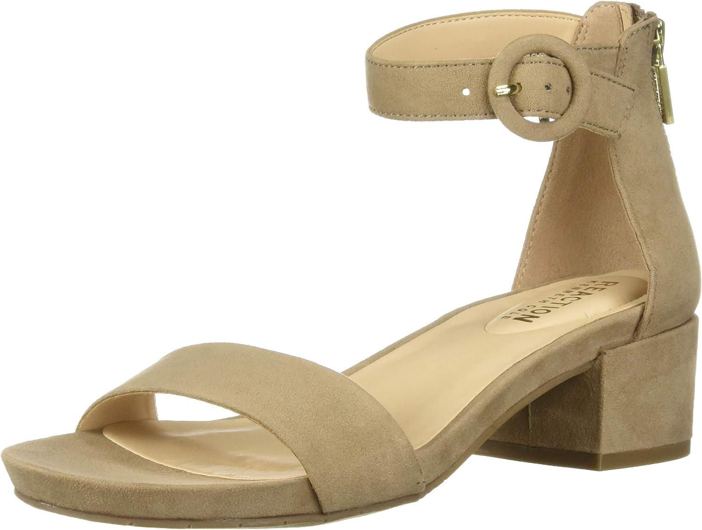 Kenneth Cole REACTION Womens Late Vibe Block Heeled Sandal Heeled Sandal