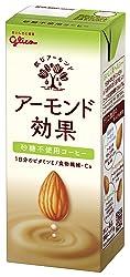[冷蔵] グリコ アーモンド効果 砂糖不使用 コーヒー 200ml