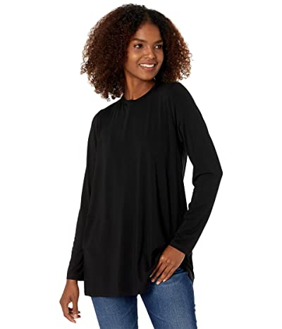 Eileen Fisher Crew Neck Tunic in Fine Stretch Jersey Knit