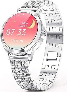 Inteligentny zegarek kobiety inteligentna bransoletka IP68 wodoodporny modny smartwatch zegarek na rękę dla kobiet smartwa...