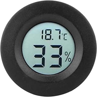 Luftfuktighetsmätare, inbyggd termometerhygrometer LCD-display Mini för displayskåp för kylskåp(black)