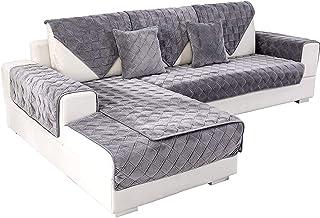 Deep Dream Sectional Couch Covers, Velvet Sofa Slipcover...