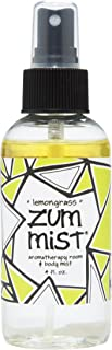 Indigo Wild Zum Mist Aromatherapy Spray, Lemongrass, 4 Fluid Ounce