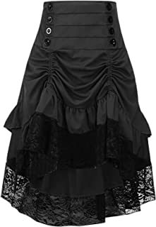 Alivila.Y Fashion Womens Gothic Steampunk Skirt Asymmetrical High Low Dress