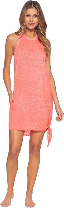 Beach Date High Neck Pocket Dress Cover-Up