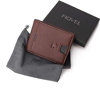 27d1848552906b FIQUEL Portafoglio Uomo Piccolo Sottile con Clip Fermasoldi, Porta Carte di  Credito, Portamonete Slim