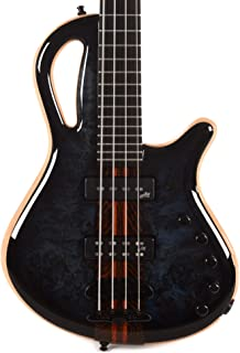 $3353 Get Mayones Caledonius Classic 4-String Dirty Blue Burst Gloss w/Aguilar SS/SD Soapbars & Mayones M-BP3 Pre-Amp