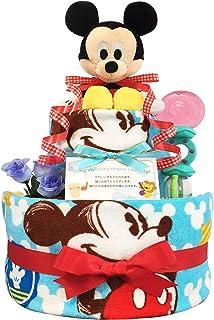 おむつケーキ ディズニー ミッキー 男の子 2段 3001 (S 出産祝い 新生児)