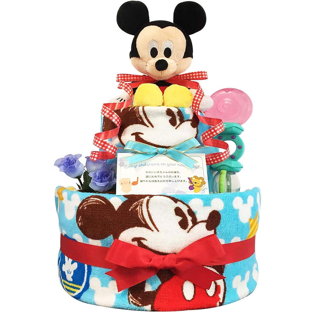 悲観的宿るコントラストKanonBabys おむつケーキ [ 男の子向け/ディズニー : ミッキー / 2段 ] パンパースS22枚 (出産祝いに大人気) ダイパーケーキ ギフト 誕生日プレゼント 赤ちゃんの内祝い にもおすすめ
