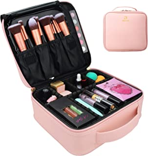 MONSTINA Makeup Case,Travel Makeup Train Case Cosmetic Case with Women,Makeup Organizers and Portable Makeup Bag for Cosmetics Jewelry Makeup Brushes Toiletry