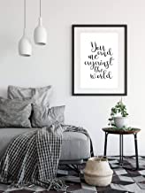 Delia32Agnes You and Me Against The World Printable Wall Art Quote Poster Home Decor Typography Sign Inspiration Motivation Love Instant Download