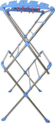 ORRIL ZOSHOMI Cloth Drying Stand Stainless Steel, Cloth Drying Stand, Cloth Dryer Stand - SS Sumo Pre Assembled (Made in India Best New Launch Price)